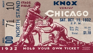 1932 Knox College vs. University of Chicago by Row One Brand