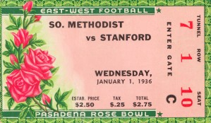 1936 Rose Bowl SMU Undefeated by Row One Brand