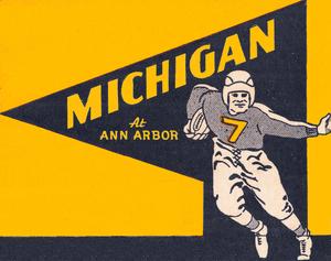 1938 Michigan Football Ticket Art Remix   Row 1 by Row One Brand