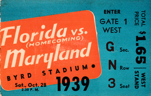 1939 Florida Gators vs. Maryland Terrapins | Row 1 by Row One Brand