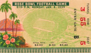 1939 Rose Bowl USC Win by Row One Brand