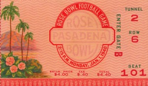 1940 Rose Bowl USC vs. Tennessee by Row One Brand