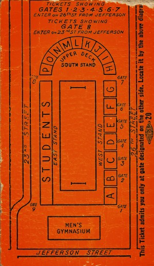 1942 Oregon State Bell Field Corvallis Stadium Map by Row One Brand