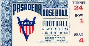 1943 Rose Bowl Georgia Win by Row One Brand
