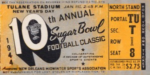 1944 Sugar Bowl Tulsa vs. Georgia Tech by Row One Brand