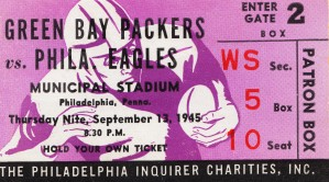 1945 Philadelphia Eagles vs. Green Bay by Row One Brand
