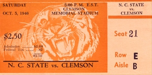 1946 Clemson vs. NC State by Row One Brand