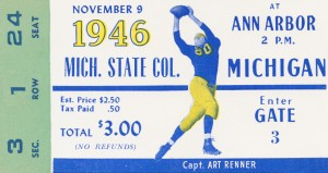 1946 Michigan vs. Michigan State by Row One Brand