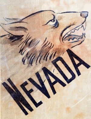 1946 Nevada Wolfpack Art by Row One Brand