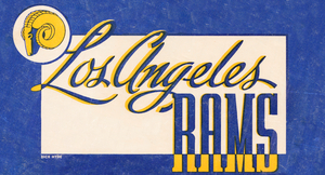 1947 LA Rams Football Art Remix | Row 1 by Row One Brand