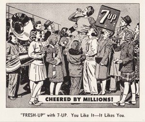 Vintage 7UP Advertisement   1948   Row 1 by Row One Brand