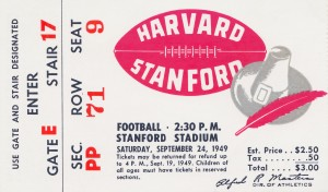 1949 Harvard vs. Stanford by Row One Brand
