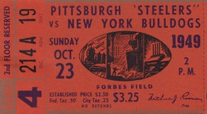 1949 Pittsburgh Steelers vs. New York Bulldogs by Row One Brand