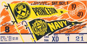 1949 Princeton Tigers vs. Navy Midshipmen | Row 1 by Row One Brand