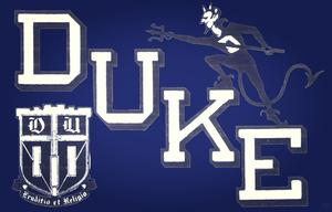 Vintage Fifties Duke Blue Devil Art | Row 1 by Row One Brand