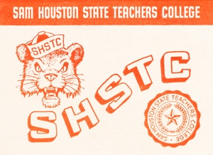 1955 Sam Houston State Teachers College Art by Row One Brand