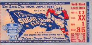 1951 Sugar Bowl Kentucky Win by Row One Brand