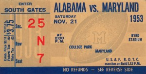 1953 Alabama vs. Maryland by Row One Brand