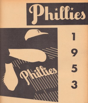 1953 Vintage Phillies Art Print by Row One Brand