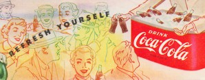 1954 Vintage Coke Ad by Row One Brand