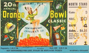 1954 Orange Bowl Oklahoma Win by Row One Brand