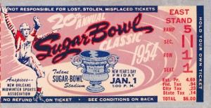 1954 Sugar Bowl Georgia Tech Win by Row One Brand