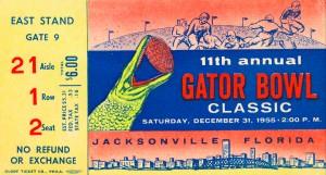 1955 Gator Bowl Vanderbilt Win by Row One Brand