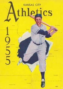 1955 Kansas City Athletics Art by Row One Brand