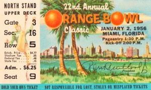 1956 Orange Bowl Oklahoma National Champs by Row One Brand