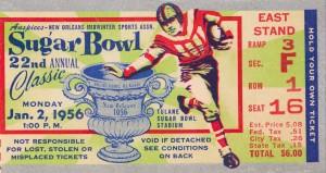 1956 Sugar Bowl Georgia Tech Win by Row One Brand