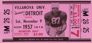 1957 Villanova Wildcats vs. Detroit Titans | Row 1 by Row One Brand