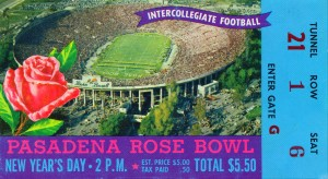 1958 Rose Bowl Ohio State Win by Row One Brand