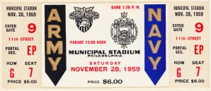 1959 Army Navy Game Ticket by Row One Brand