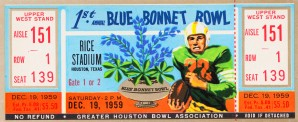 1959 First Bluebonnet Bowl Clemson Win by Row One Brand
