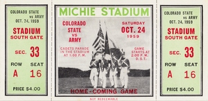 1959 Colorado State Rams vs. Army Cadets by Row One Brand