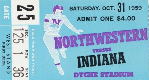1959 Northwestern vs. Indiana by Row One Brand