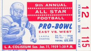 1959 Pro Bowl Ticket Stub Art by Row One Brand