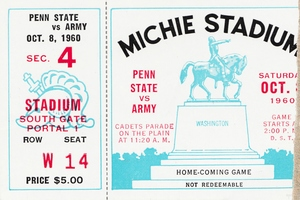 1960 Army vs. Penn State Football Ticket Canvas by Row One Brand