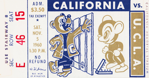 1960 California Bears vs. UCLA Bruins by Row One Brand
