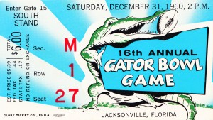 1960 Gator Bowl Florida Win by Row One Brand