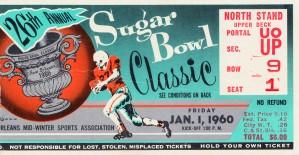 1960 sugar bowl ticket ole miss lsu by Row One Brand