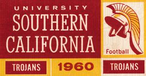 1960 USC Trojans Season Ticket Remix Art by Row One Brand