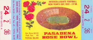 1962 Rose Bowl Minnesota Win by Row One Brand
