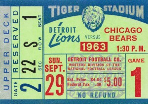 1963 Chicago Bears vs. Detroit Lions by Row One Brand