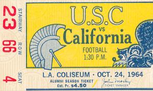 1964 USC Trojans vs. Cal Bears | Row 1 by Row One Brand