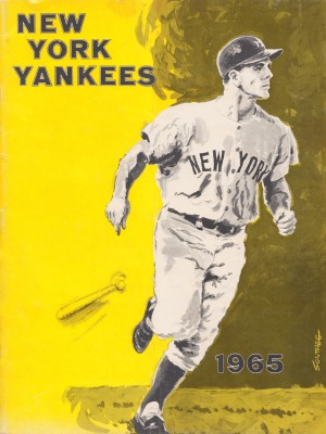 1965 new york yankees poster by Row One Brand