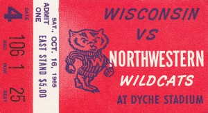 1965 Northwestern vs. Wisconsin by Row One Brand