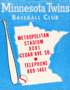 1967 Minnesota Twins Metropolitan Stadium Art by Row One Brand