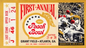 1968 First Peach Bowl LSU Win by Row One Brand