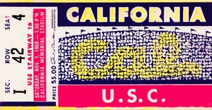 1969 Cal Bears vs. USC Trojans by Row One Brand